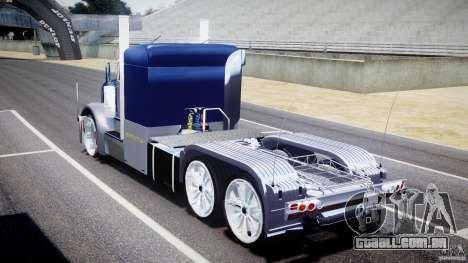 Peterbilt Truck Custom para GTA 4 vista lateral