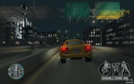 Audi R8 4.2 FSI para GTA 4 esquerda vista
