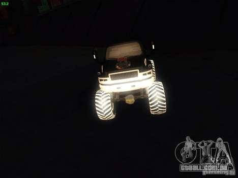 GMC Monster Truck para GTA San Andreas vista direita
