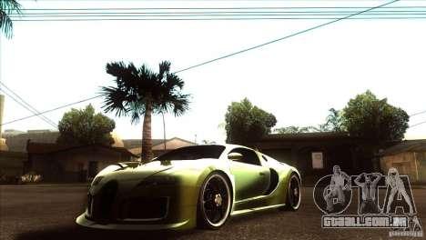 Bugatti Veyron Life Speed para GTA San Andreas