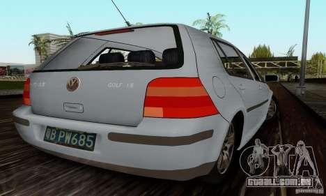 Volkswagen Golf 4 1.6 para GTA San Andreas traseira esquerda vista