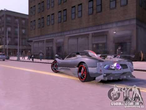 Pagani Zonda Cinque Roadster v 2.0 para GTA 4 vista de volta