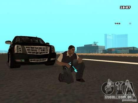 Black & Blue guns para GTA San Andreas segunda tela