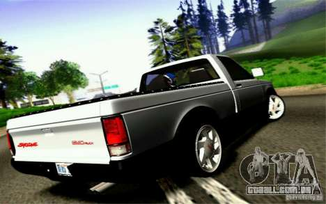 GMC Syclone Stock para GTA San Andreas vista interior
