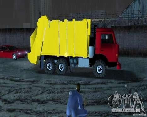 Caminhão de lixo Kamaz para GTA Vice City deixou vista