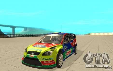2 obras de pintura para o Ford Focus RS WRC 08 para GTA San Andreas