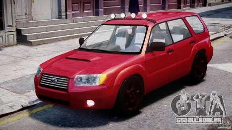 Subaru Forester v2.0 para GTA 4 esquerda vista