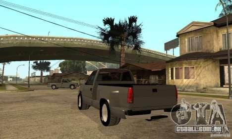 Chevrolet Silverado 1500 para GTA San Andreas esquerda vista