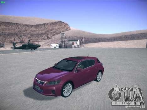 Lexus CT200H 2012 para GTA San Andreas vista direita