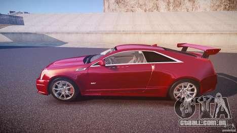 Cadillac CTS-V Coupe para GTA 4 esquerda vista