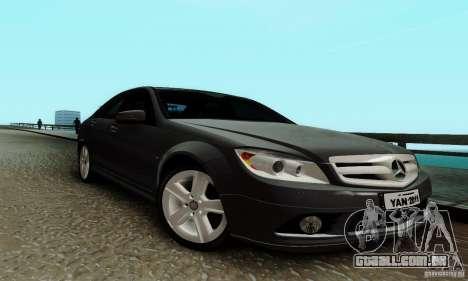 Mercedes-Benz C180 para GTA San Andreas esquerda vista