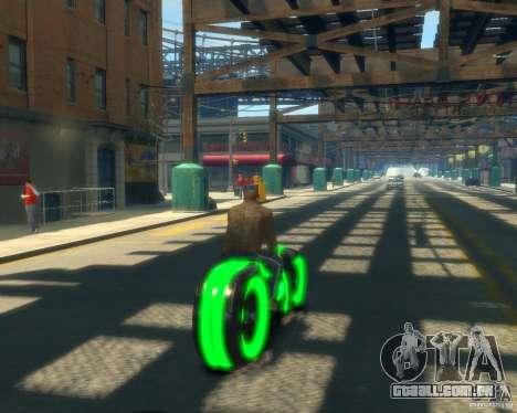 Motocicleta do trono (neon verde) para GTA 4 traseira esquerda vista