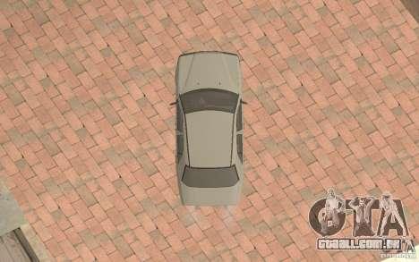 Mercedes-Benz E200 W124 para GTA San Andreas vista interior