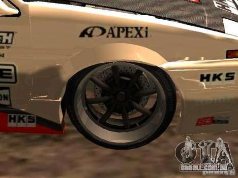 Toyota AE86 Coupe para GTA San Andreas vista traseira