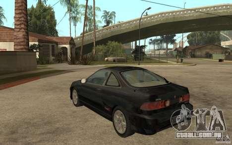 Acura Integra Type-R para GTA San Andreas traseira esquerda vista