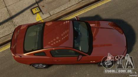 Ford Mustang GT 2011 para GTA 4 vista direita