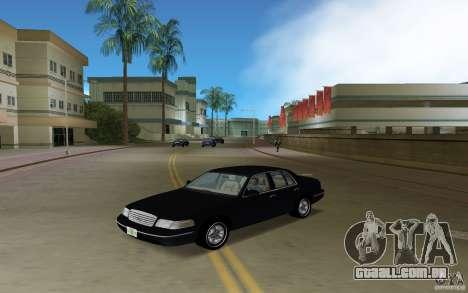 Ford Crown Victoria para GTA Vice City vista traseira esquerda