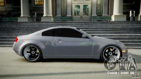 Infiniti G35 Coupe 2003 JDM Tune para GTA 4 vista lateral