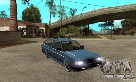 VW Fox 1989 v.2.0 para GTA San Andreas vista traseira