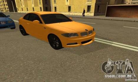 BMW 135i Coupé para GTA San Andreas traseira esquerda vista