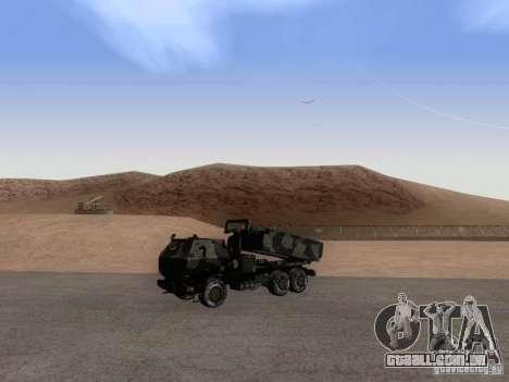 M142 HIMARS Artillery para GTA San Andreas vista direita