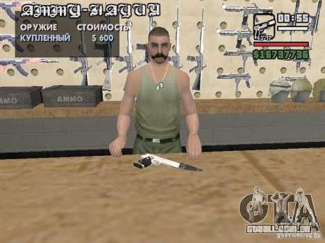 Silverballer silenciada de Hitman para GTA San Andreas por diante tela
