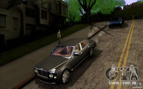 Bentley Mulsanne 2010 v1.0 para GTA San Andreas vista superior