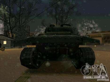 Sherman para GTA San Andreas vista traseira