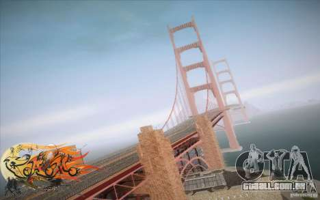 New Golden Gate bridge SF v1.0 para GTA San Andreas por diante tela