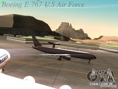 Boeing E-767 U.S Air Force para GTA San Andreas vista interior