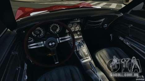 Chevrolet Corvette Stringray 1969 v1.0 [EPM] para GTA 4 vista de volta