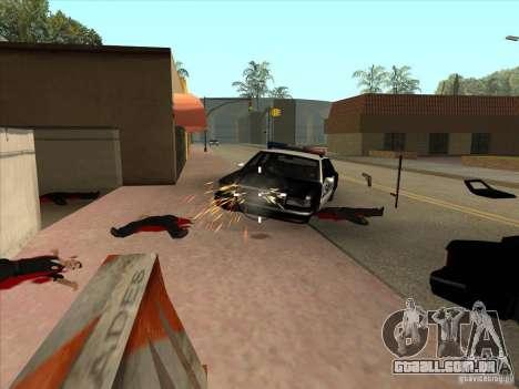 O script CLEO: metralhadora no GTA San Andreas para GTA San Andreas terceira tela