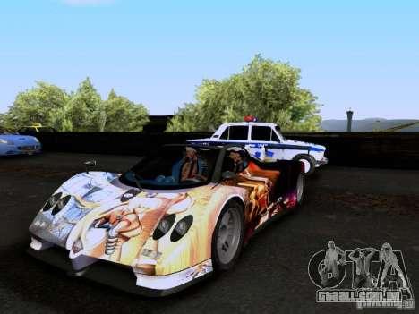Pagani Zonda EX-R para GTA San Andreas vista inferior