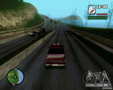 Vaz 21099 NFS Tuning para GTA San Andreas vista traseira