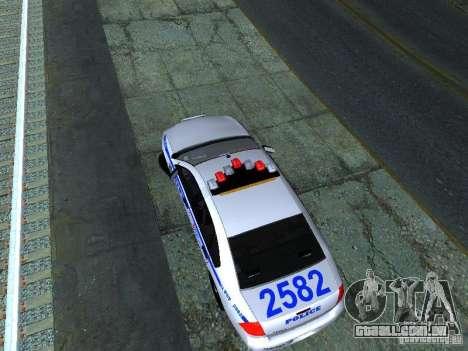 Chevrolet Impala NYPD para GTA San Andreas vista traseira
