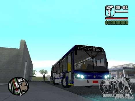 Busscar Urbanuss Ecoss MB 0500U Sambaiba para GTA San Andreas vista interior