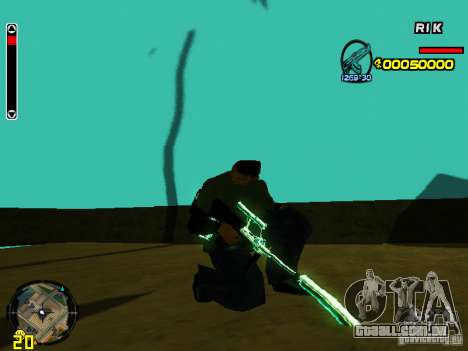 Blue weapons pack para GTA San Andreas