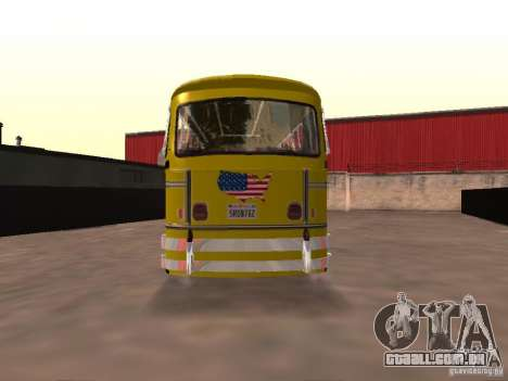 Bedford School Bus para GTA San Andreas traseira esquerda vista