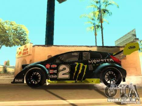 Ford Fiesta Rally Time para GTA San Andreas vista inferior