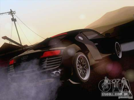 Audi R8 Hamann para GTA San Andreas interior