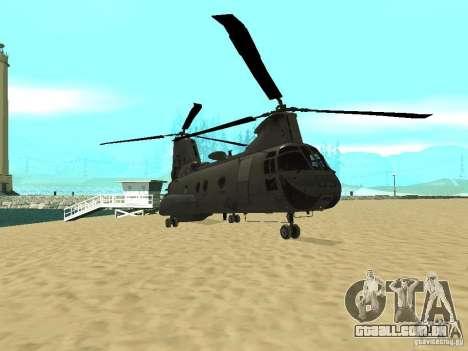 Leviatã de helicóptero para GTA San Andreas esquerda vista