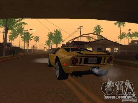 Ford GT para GTA San Andreas traseira esquerda vista