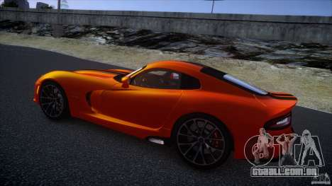 Dodge Viper GTS 2013 v1.0 para GTA 4 vista interior