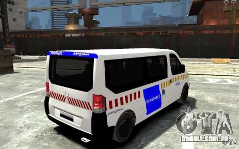 Opel Vivaro Hungarian Police Van para GTA 4 vista direita