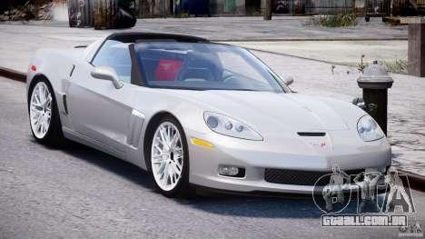 Chevrolet Corvette Grand Sport 2010 v2.0 para GTA 4 vista de volta