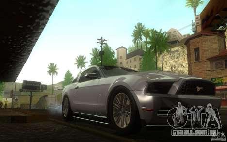 Ford Mustang GT V6 2011 para GTA San Andreas vista traseira