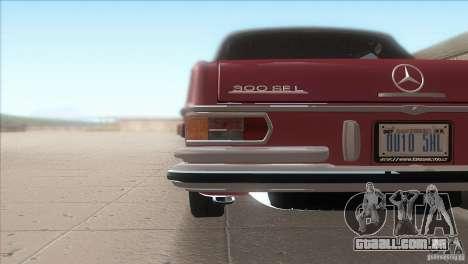 Mercedes-Benz 300 SEL para GTA San Andreas vista superior