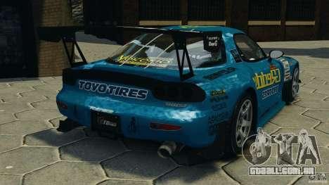 Mazda RX-7 RE-Amemiya para GTA 4 traseira esquerda vista