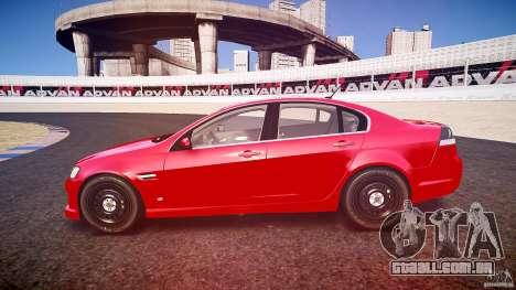 Holden Commodore (CIVIL) para GTA 4 vista lateral