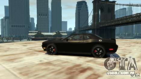 Dodge Challenger SRT8 para GTA 4 traseira esquerda vista